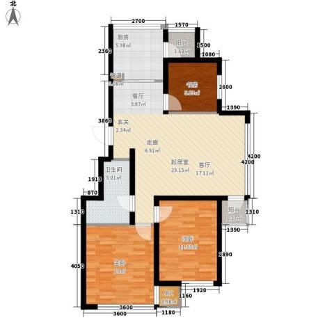九江丽都3室0厅1卫1厨107.00㎡户型图