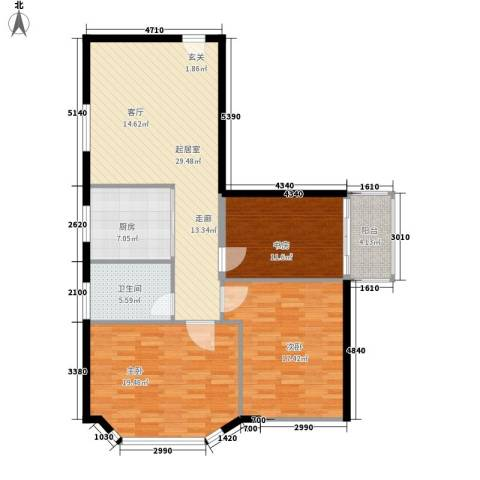 海林依景3室0厅1卫1厨104.00㎡户型图