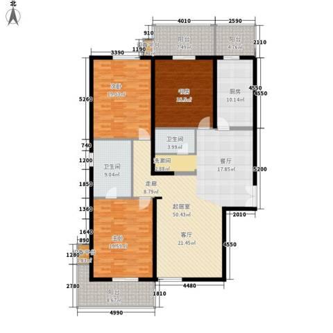 凤城明珠3室0厅2卫1厨168.00㎡户型图
