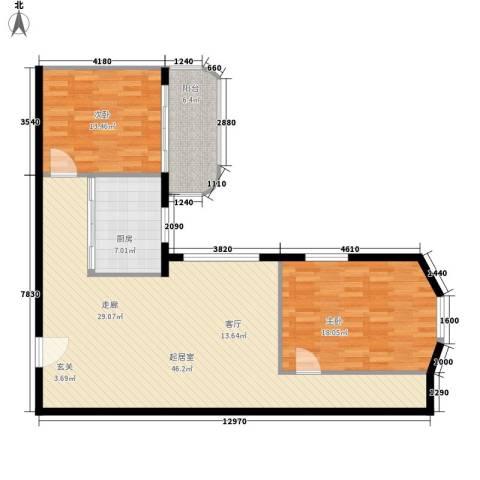 海林依景2室0厅0卫1厨100.00㎡户型图