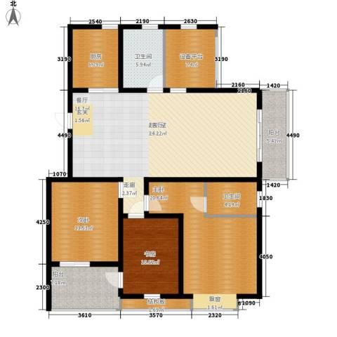 锦都花园3室0厅2卫1厨133.00㎡户型图