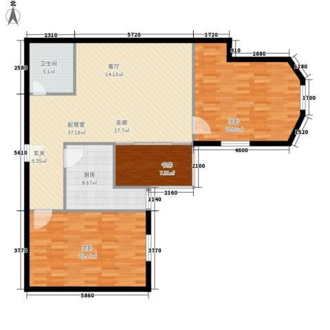 海林依景3室0厅1卫1厨107.00㎡户型图