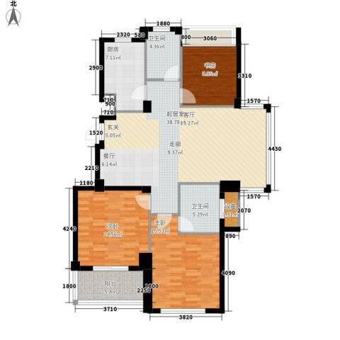 四季翠园3室0厅2卫1厨120.00㎡户型图