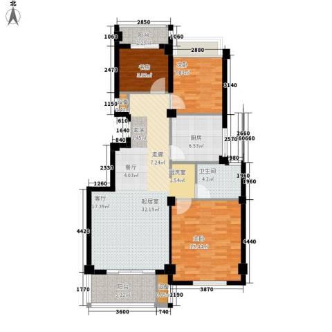 四季翠园3室0厅1卫1厨87.00㎡户型图