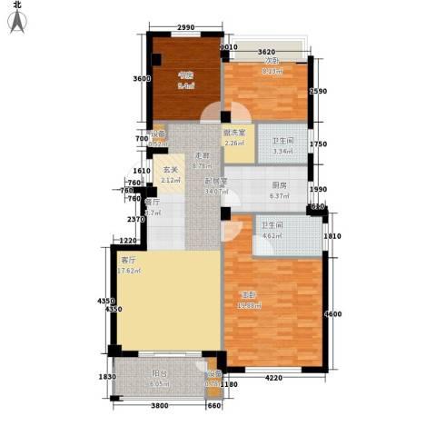 四季翠园3室0厅2卫1厨103.00㎡户型图