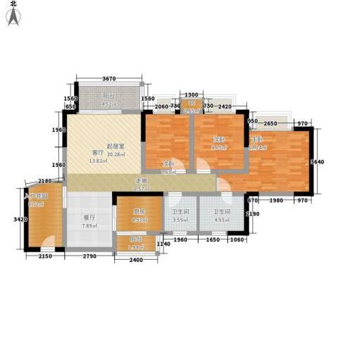 渝景大厦3室0厅2卫1厨118.00㎡户型图