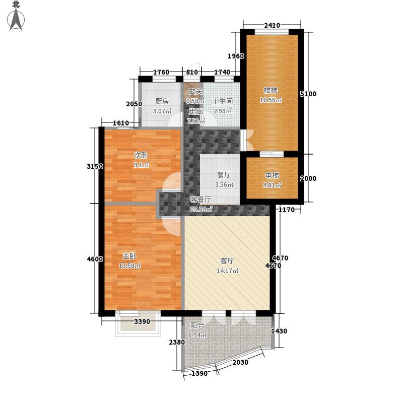 蓬莱阁86.00㎡公寓A户型