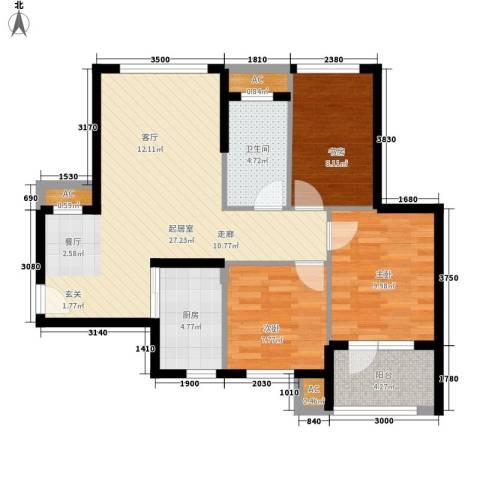 金桥澎湖山庄3室0厅1卫1厨99.00㎡户型图