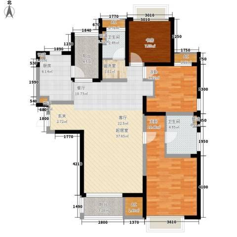 和风雅致3室0厅2卫1厨127.00㎡户型图