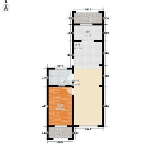 东方・新湖俪城1室1厅1卫1厨94.00㎡户型图