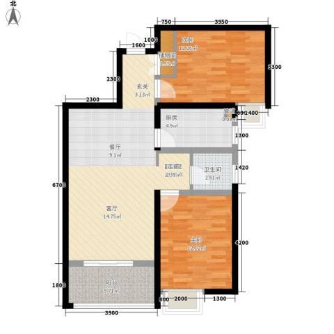 黄河龙城・半岛御境2室0厅1卫1厨98.00㎡户型图