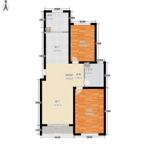 御景天成2室0厅1卫1厨105.00㎡户型图