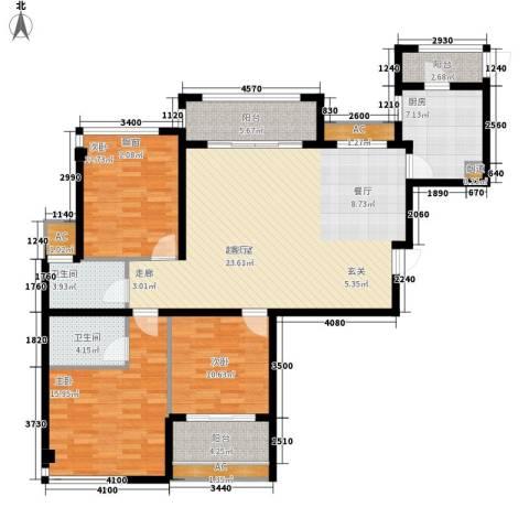 御景天成3室0厅2卫1厨129.00㎡户型图
