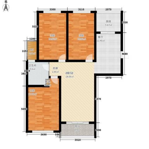 御景天成3室0厅1卫1厨121.00㎡户型图