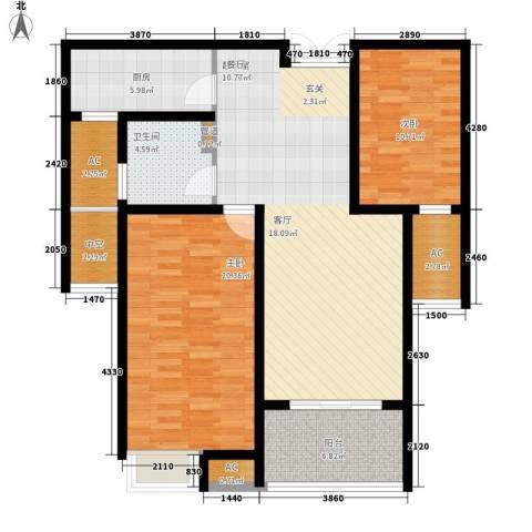 御景天成2室0厅1卫1厨102.00㎡户型图