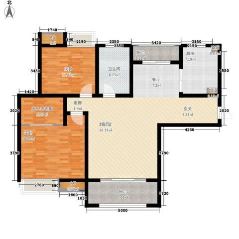 御景天成2室0厅1卫1厨118.00㎡户型图