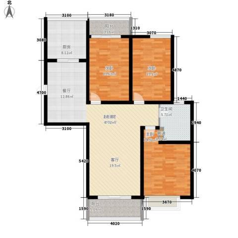 御景天成3室0厅1卫1厨120.00㎡户型图