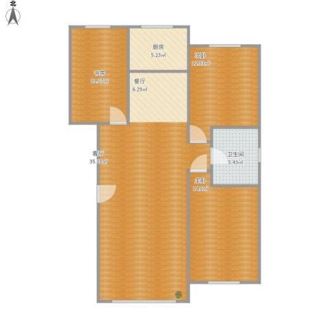 金港翠园3室1厅1卫1厨103.00㎡户型图