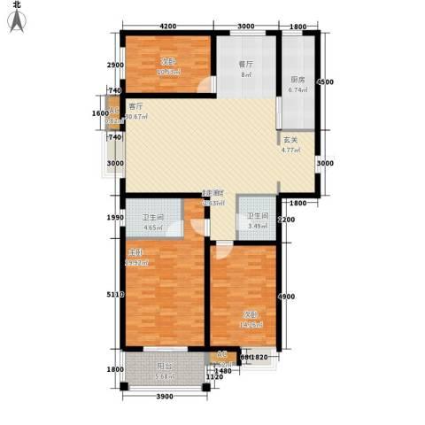 恒圆魏都3室0厅2卫1厨160.00㎡户型图