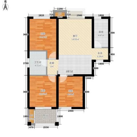 恒圆魏都3室0厅1卫1厨103.00㎡户型图