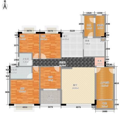 百盈花园4室0厅2卫1厨154.00㎡户型图