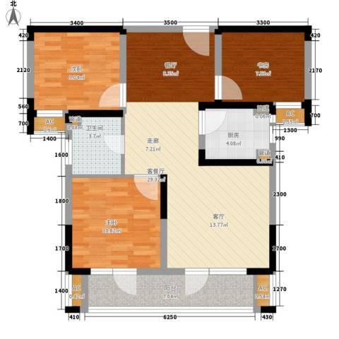 满庭春MOMΛ3室1厅1卫1厨100.00㎡户型图