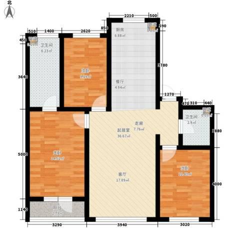 元基首府3室0厅2卫0厨120.00㎡户型图