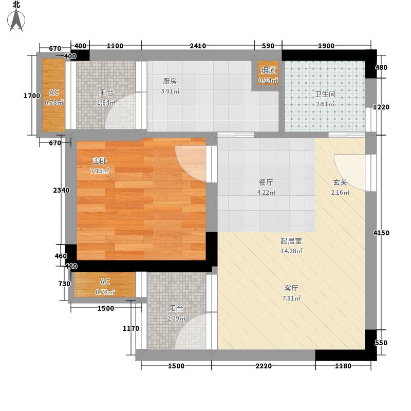加减乘除35.41㎡一期2号楼标准层面积3541m户型