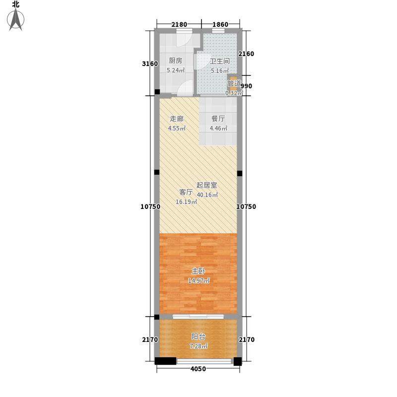 中南·森海湾65.00㎡中南・森海湾A塔楼-B户型