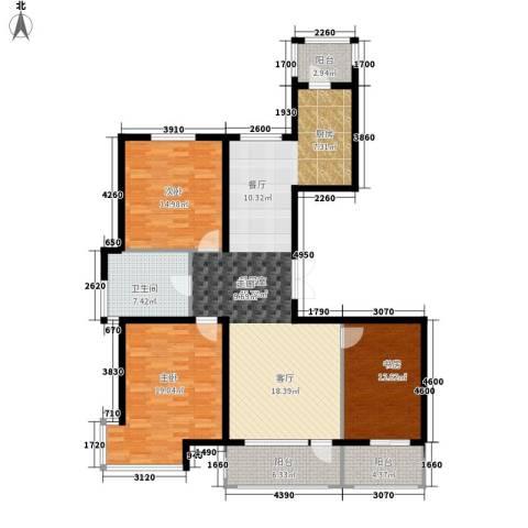 营口世博花园3室0厅1卫0厨159.00㎡户型图