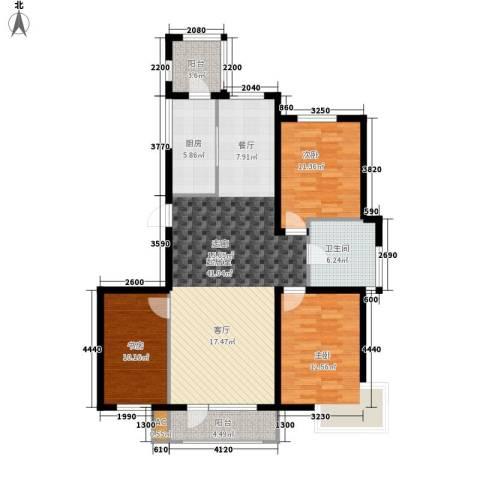 营口世博花园3室0厅1卫1厨135.00㎡户型图