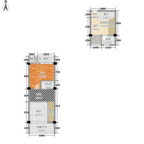 永鸿尚海湾1室0厅1卫1厨85.00㎡户型图