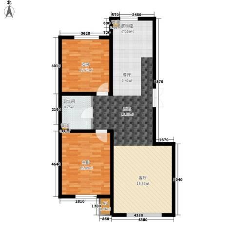 誉�华府2室0厅1卫0厨91.00㎡户型图