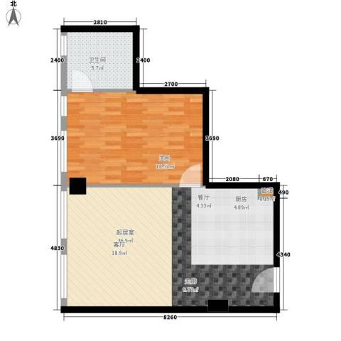 龙禧中心1室0厅1卫0厨67.00㎡户型图