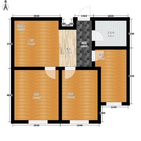 誉�华府2室0厅1卫1厨64.00㎡户型图