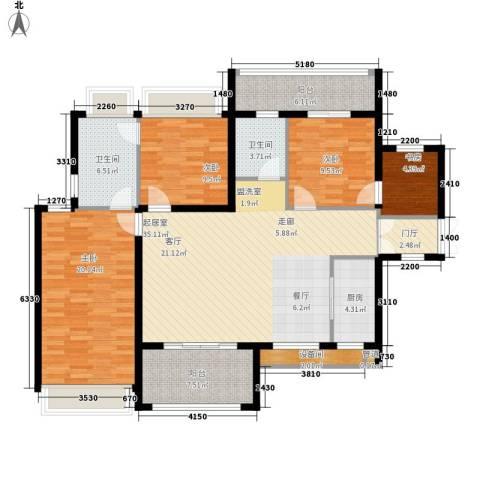 中洋公园首府4室0厅2卫1厨158.00㎡户型图