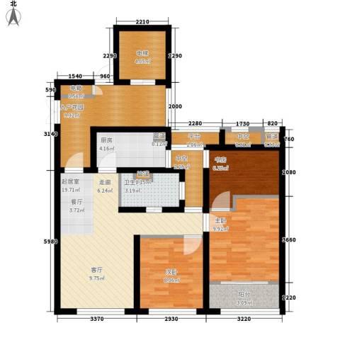 瑶溪凤凰城3室0厅1卫1厨110.00㎡户型图