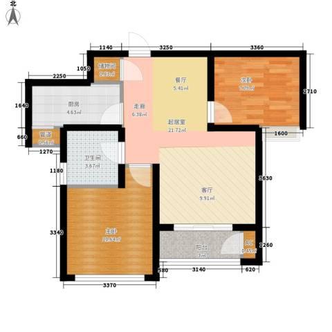 东壹区2室0厅1卫1厨62.27㎡户型图