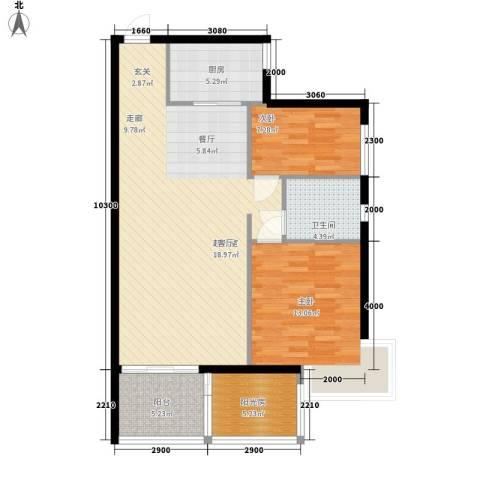 竹园新城2室0厅1卫1厨109.00㎡户型图