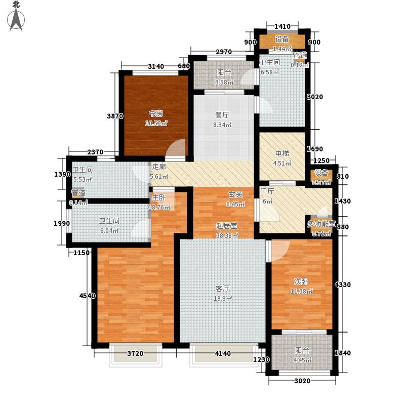 海信·依云小镇159.82㎡小高层B2户型3室2厅