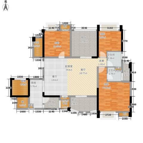 碧桂园翡翠山3室0厅2卫1厨138.00㎡户型图