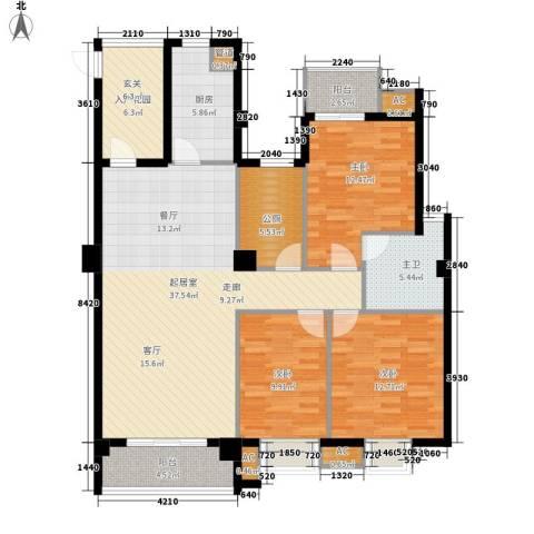 山水华景3室0厅0卫1厨120.00㎡户型图