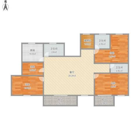 印象派嘉富丽花园4室1厅3卫1厨97.00㎡户型图