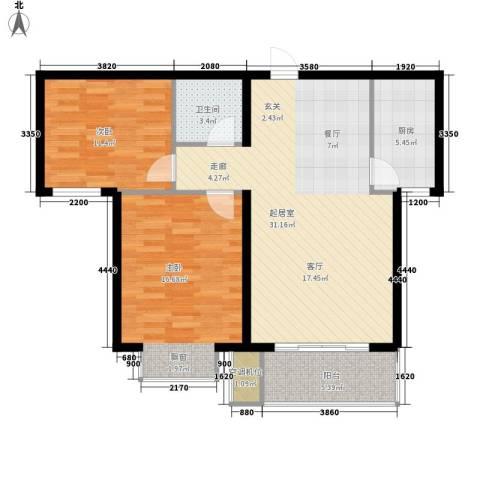 永康水印城2室0厅1卫1厨104.00㎡户型图