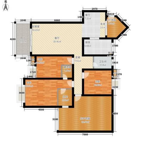 城市经典3室0厅1卫1厨193.00㎡户型图