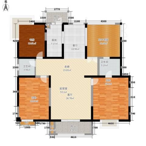 康馨花园3室0厅2卫1厨213.00㎡户型图