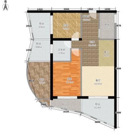 博鳌阳光海岸2室1厅1卫1厨91.00㎡户型图