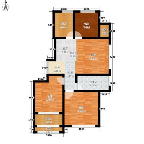 武铁向阳小区3室0厅1卫1厨117.00㎡户型图