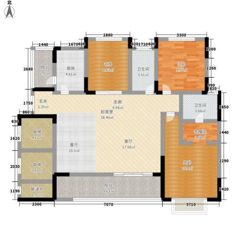 红山国际社区3室0厅2卫1厨159.00㎡户型图