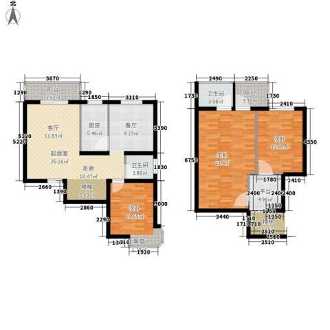 印象欧洲3室0厅2卫1厨143.00㎡户型图